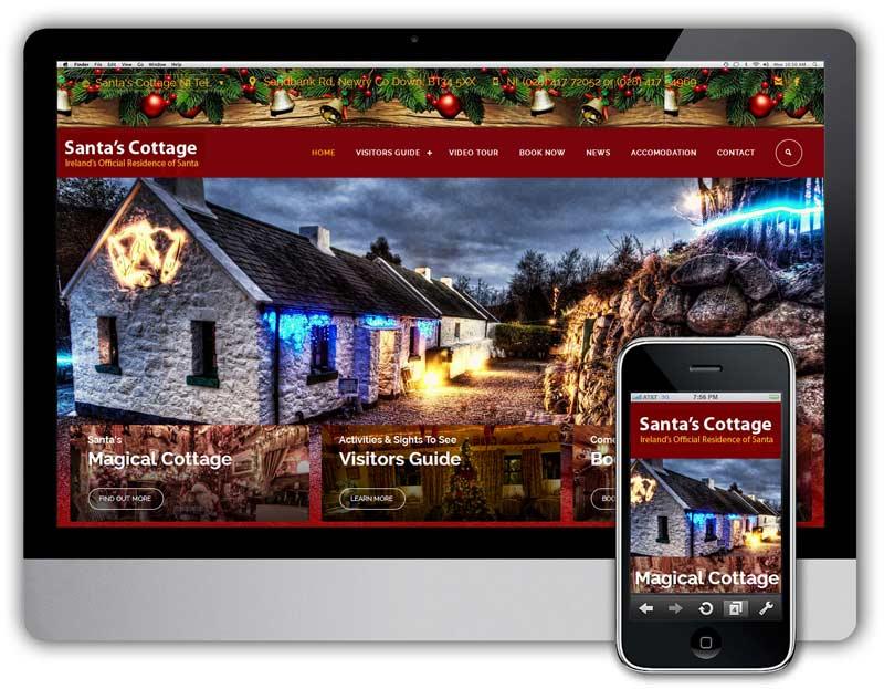 santa cottage web design